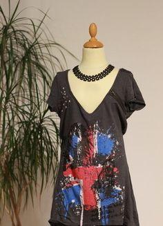 Kaufe meinen Artikel bei #Kleiderkreisel http://www.kleiderkreisel.de/damenmode/kurzarmlig/142547930-mogul-shirt-halbarm-gr-s-graubunt-mit-nieten