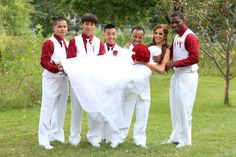 Bride and guys