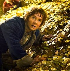"""""""The first image from 'The Hobbit: The Desolation of Smaug' teases just how shocked Bilbo Baggins is when he realizes Sherlock is alive, and is now a dragon."""" Oh, fandom, you so silly! I CANNOT WAIT FOR DECEMBER 13, 2013!!!!!!!!!!!!!!!!!"""