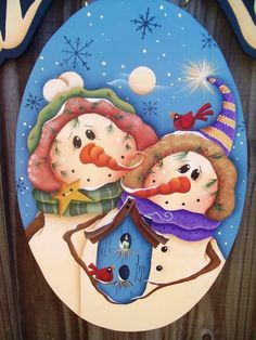 Snowman+Couple+Welcome+Sign+by+stephskeepsakes+on+Etsy,+$29.99