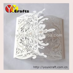 Wholesale - 100Sets Laser Cut Wedding invitations Cards+100 Inner paper+100 Envelopes+100 Seals  US $92.00