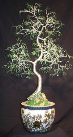 Oriental Bonsai, wire tree sculpture - Original. $1,450.00, via Etsy.