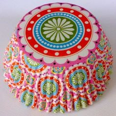 Bohemian floral Cupcake liners. This is fabulous!!!