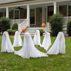 Halloween decorations outside