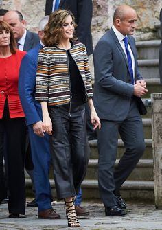 Queen Letizia of Spain attends the opening of the 11th International Seminar on Language and Journalism 'The language of humor in journalism in Spanish' at the Monastery of Yuso on May 25, 2016 in San Millan de la Cogolla, Spain.