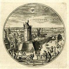 """Februarius"" after Hans Bol c.1580 Engraving"