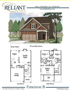 Reliant homes the waterford plan floor plans homes for Reliant homes floor plans