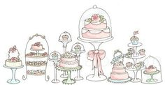 cake illustration idea