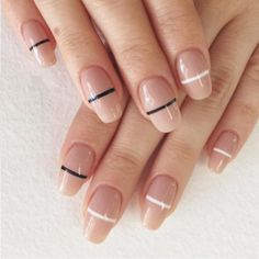 Get in line with this chic nail art trend: http://rzoe.me/43JJ0vd
