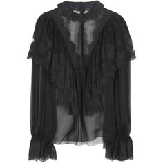 Dolce & Gabbana Lace Blouse (176.920 RUB) ❤ liked on Polyvore featuring tops, blouses, black, lace blouse, lace top, lacy tops, lacy blouses and dolce gabbana top