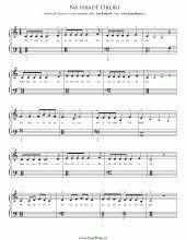 Na hradě Okoři   Noty pro klavír a akordeon