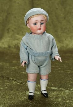 """11"""" German All-Bisque Doll, Model 208, by Kestner in Rare Large Size."""