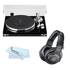 TEAC TN300 Analog Turntable with Builtin Phono Preamplifier  USB Digital Output  AudioTechnica ATHM30x Professional Studio Monitor Headphones Black * Want additional info? Click on the image.