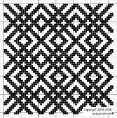 Filet Crochet Charts, Knitting Charts, Crochet Stitches, Knitting Patterns, Crochet Patterns, Cross Stitch Geometric, Beaded Cross Stitch, Cross Stitch Borders, Cross Stitching