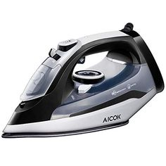 Aicok Steam Iron Professional Garment Steamer with Tangle-Free Cord, Variable Temperature and Steam Control, Full Function Non-Stick Soleplate Press Iron, Black - Home and Garden Lists Products Best Steam Iron, Clothes Steamer, How To Iron Clothes, Steam Cleaning, Iron Work, Variables, Fun Workouts, Stainless Steel