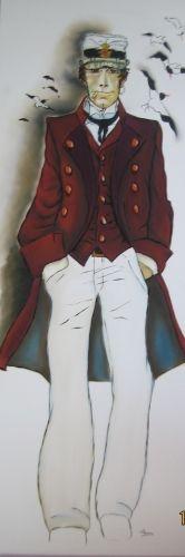 """Corto Maltese"" by Hugo Pratt Brush Pen, Pop Art, Pallet, Nautical, Street Art, Cartoons, Lemon, Portraits, Culture"