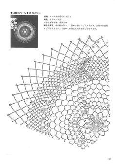"Photo from album ""Kyoko Kawashima - Beautiful Crochet Lace on Yandex. Crochet Pillow Pattern, Crochet Doily Patterns, Crochet Doilies, Crochet Flowers, Crochet Home, Irish Crochet, Knit Crochet, Crochet Decoration, Crochet Tablecloth"