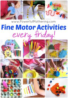New Fine Motor Activities every Friday on PowerfulMothering.com #toddler #preschool #finemotor