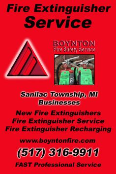 Fire Extinguisher Service Sanilac Township, MI (517) 316-9911Local Michigan Businesses Discover the Complete Fire Protection Source.  We're Boynton Fire Safety Service.. Call us today!