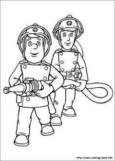 coloring page Fireman Sam on Kids-n-Fun. Coloring pages of Fireman Sam on Kids-n-Fun. More than coloring pages. At Kids-n-Fun you will always find the nicest coloring pages first! Fireman Birthday, Fireman Party, Fireman Sam, Coloring Book Pages, Coloring Sheets, Adult Coloring, Fireman Quilt, Fireman Crafts