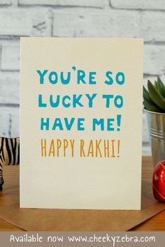 Funny rakhi and raksha bandhan cards to make your brohter laugh this year! We also have a limited number of rakhis which you can add to your order. #rakhicard #rakshabandhan Rakhi Wishes For Brother, Best Brother Quotes, Rakhi Greetings, Raksha Bandhan Cards, Happy Raksha Bandhan Wishes, Rakhi Cards, Friendship Day Wishes, Happy Rakhi, Handmade Rakhi