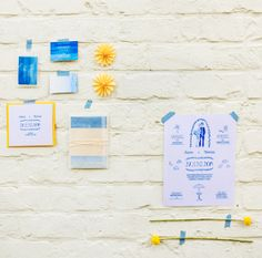 Beach Wedding invitation by Mino Paper Sweets