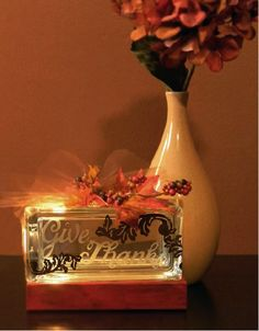 Fall Mini Glass block