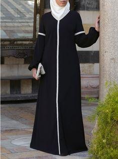 Abaya Fashion, Muslim Fashion, Women's Fashion Dresses, Modest Dresses, Modest Outfits, Stylish Dresses, Mode Abaya, Mode Hijab, Abaya Designs