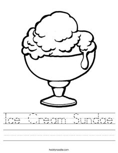 Two Ice Cream Cone Coloring Page Cookie