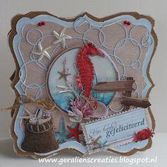 Geralien's Creaties: Rood zeepaardje