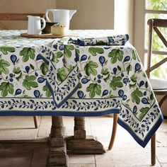 Painted Fig Tablecloth From Williams Sonoma.