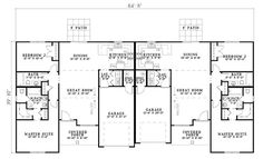 Traditional Multi-Family Plan 61280 Level One