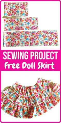 This is a doll skirt sewing pattern for inch American doll. You can use this pattern to sew a mini, midi or maxi skirt for the doll. Barbie Clothes Diy, Sewing Doll Clothes, Sewing Dolls, Girl Doll Clothes, Ag Dolls, Girl Dolls, Doll Dress Patterns, Skirt Patterns Sewing, Skirt Sewing