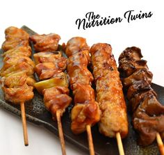 Baked Chicken Skewers | Super Moist, Healthy & Satisfying | Only 100 Calories but with 19 Grams Protein! | For MORE RECIPES, fitness & nutrition tips please SIGN UP for our FREE NEWSLETTER www.NutritionTwins.com