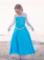 Partyleihkiste.de - Ein wunderschönes Kristallkönigin Kostüm - so zauberhaft wie die Eiskönigin. Ein Traum in blau mit Tüll von Great Pretenders