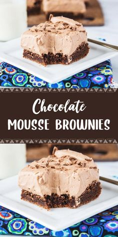 Moonies (Chocolate Mousse Brownies) – About Dessert World Best Dessert Recipes, Desert Recipes, Easy Desserts, Sweet Recipes, Delicious Desserts, Yummy Treats, Sweet Treats, Unsweetened Chocolate, Semi Sweet Chocolate Chips