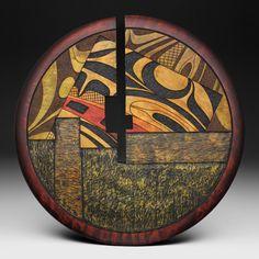 Fisher sculpture / wood sculpture