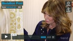 Trend and Jaclyn Smith focus on pattern 02618 in this week's behind-the-pattern episode. This pattern features ethnic medallions with traditional influence in both the line work and leaf accents, portraying a paisley-type design inspired from tradition. Watch as we take you in depth behind Jaclyn Smith's pattern 02618.