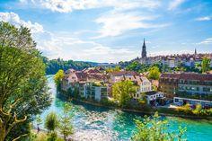 Bern, capital city of switzerland Premiu...   Premium Photo #Freepik #photo #city #house #building #clock Mountain Background, Rustic Background, Cis, Berne, Alpine Mountain, Sky View, Snowy Mountains, Swiss Alps, House Building