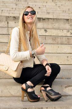 Zara cream jacket and clogs