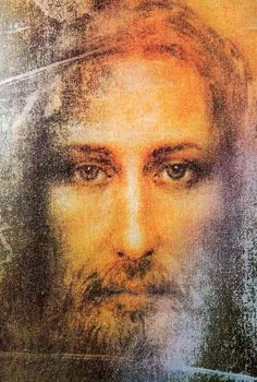 Jesus the Messiah - Shroud of Turin eyes opened and color added. The burned image into cloth at the resurrection power of God. SHROUD of Turin is PROVEN with the SUDARIUM video: ' Physical Evidence of Jesus Christ' videos) Religious Images, Religious Art, Saint Suaire, Image Jesus, Art Occidental, Jesus Face, God Jesus, Jesus Christus, A Course In Miracles