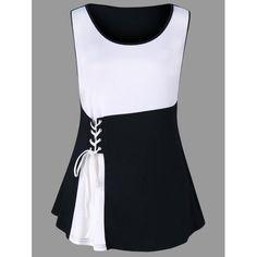 54c97843ad2 Plus Size Knee Length Color Block Work Dress - White Xl