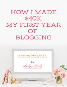 How I Made $40k My First Year Of Blogging