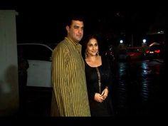 Vidya Balan with her husband at Priyanka Chopra 32nd Birthday Party.