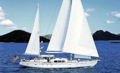 Sea Angel by Sparkman and Stephens sailing in the Virgin Islands