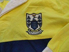 Authentic Irish Originals County Shirt SZ L An Clar Blue/Yellow #IrishOriginials #PoloRugby