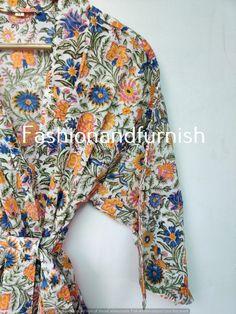 Cotton Kimono, Floral Kimono, Cotton Fabric, Winter Kimono, Kimono Design, Kimono Jacket, Kimono Fashion, Nightwear, Printed Cotton