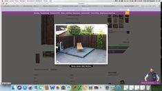 Bambooscherm met grijsblauwe tegels/grind