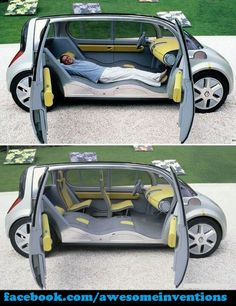 Oh man! I think I need this car!!!!But it looks like a smart car/mini van!!:D