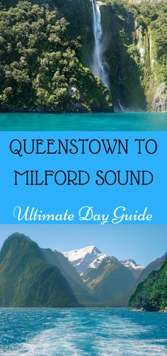 New Zealand travel guide. Day Trip From Queenstown To Milford Sound_ An Ultimate Guide Nz South Island, New Zealand South Island, New Zealand Itinerary, New Zealand Travel, Visit Australia, Australia Travel, New Zealand Holidays, Milford Sound, Philippines Travel